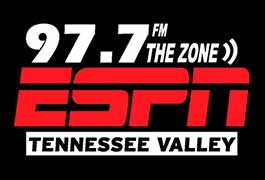97.7 FM The Zone ESPN Tennessee Valley